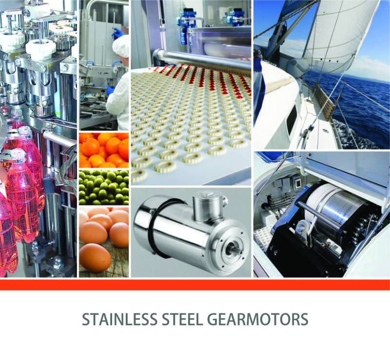 Stainless steel gearmotors